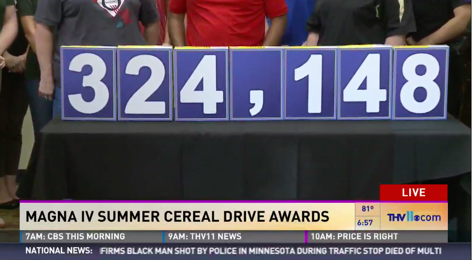 Magna IV Summer Cereal Drive Awards