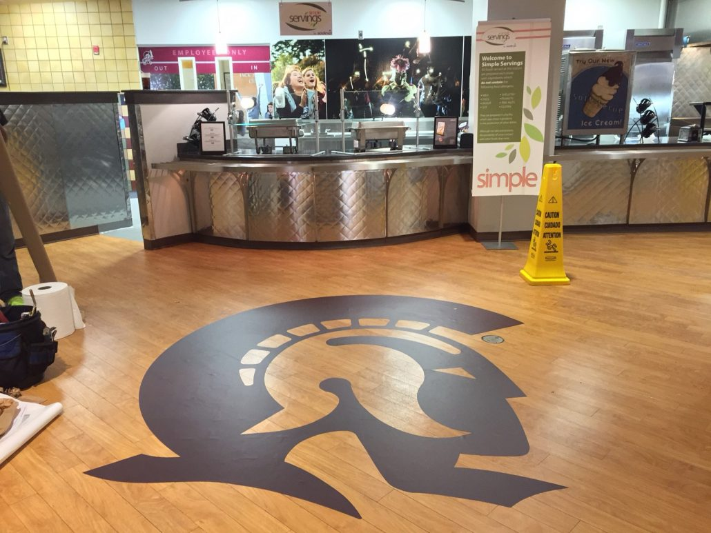 large format floor graphics