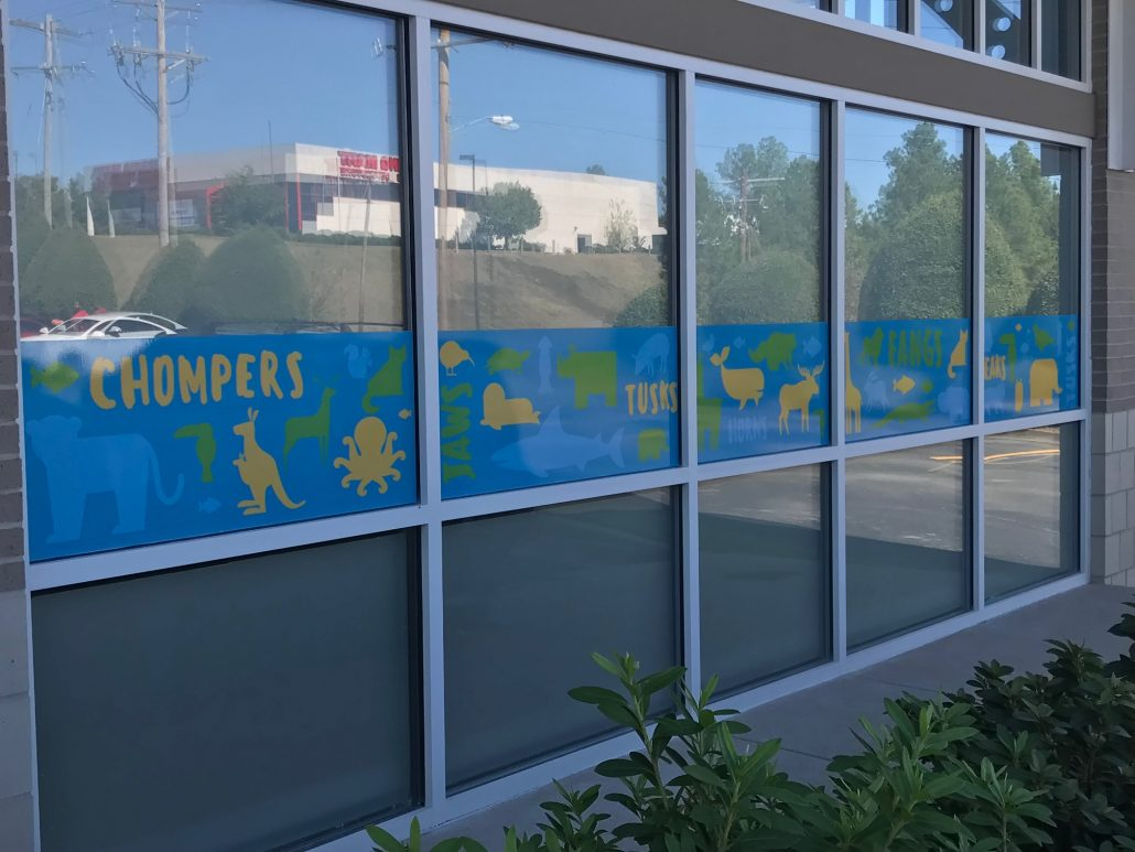 Window clings, window decals, storefront graphics