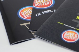 Brand-New UV Menus for Dave & Buster's