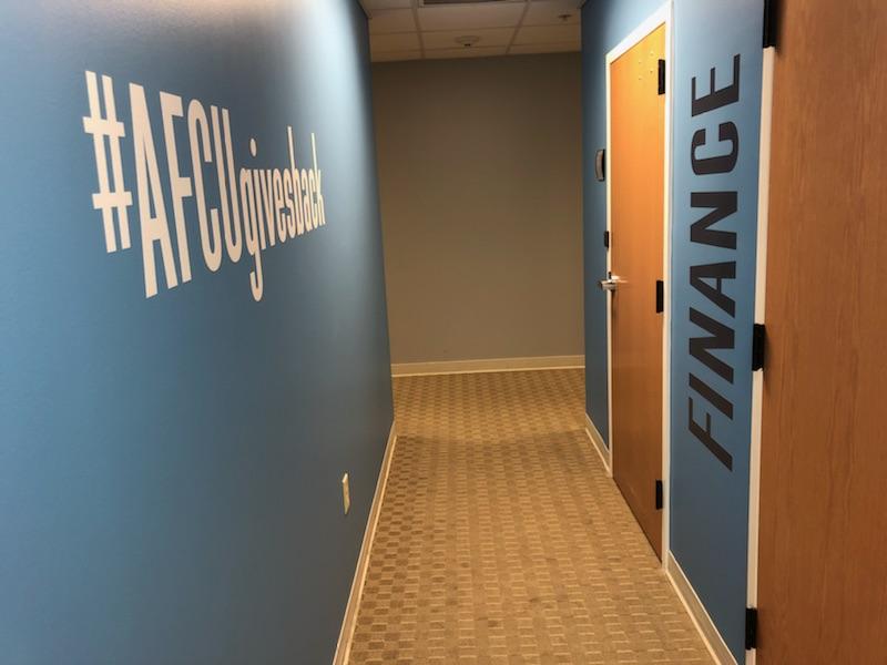 wall clings, door clings, custom interior graphics, custom wall graphics, custom graphics, wall graphics, door graphics, interior graphics
