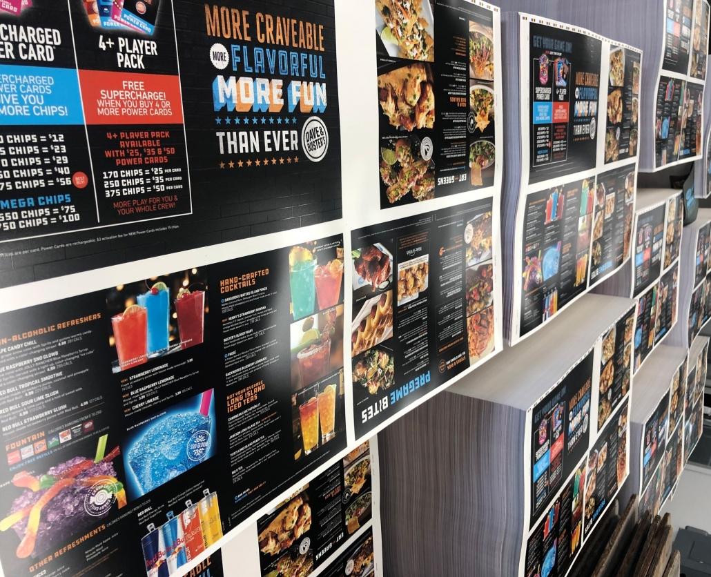 custom restaurant menu, UV printed menu, styrene menu, plastic menu, water-proof menu