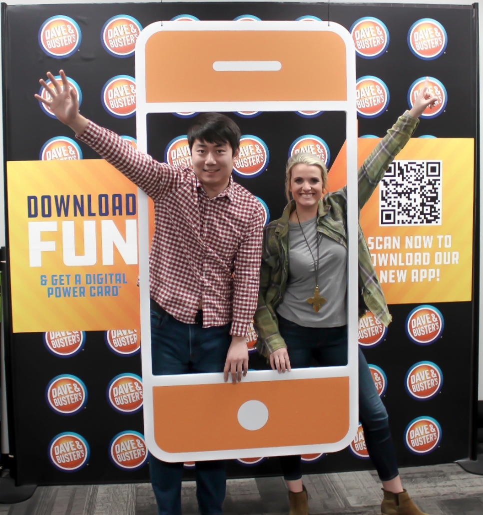 Point of Purchase Display, Photo Op, Dave & Busters